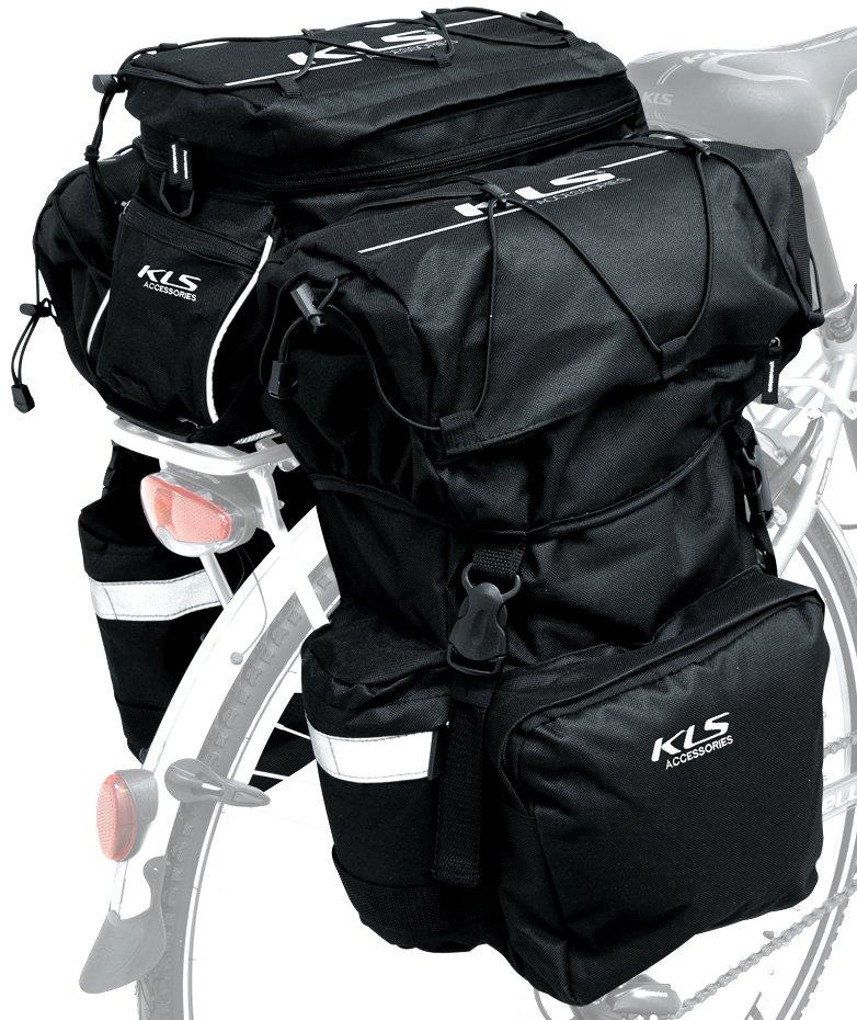 f3458d56ff2fd0 Sakwa na bagażnik KELLYS HOOK YKK 3 komorowa 46L - 6751269640 ...