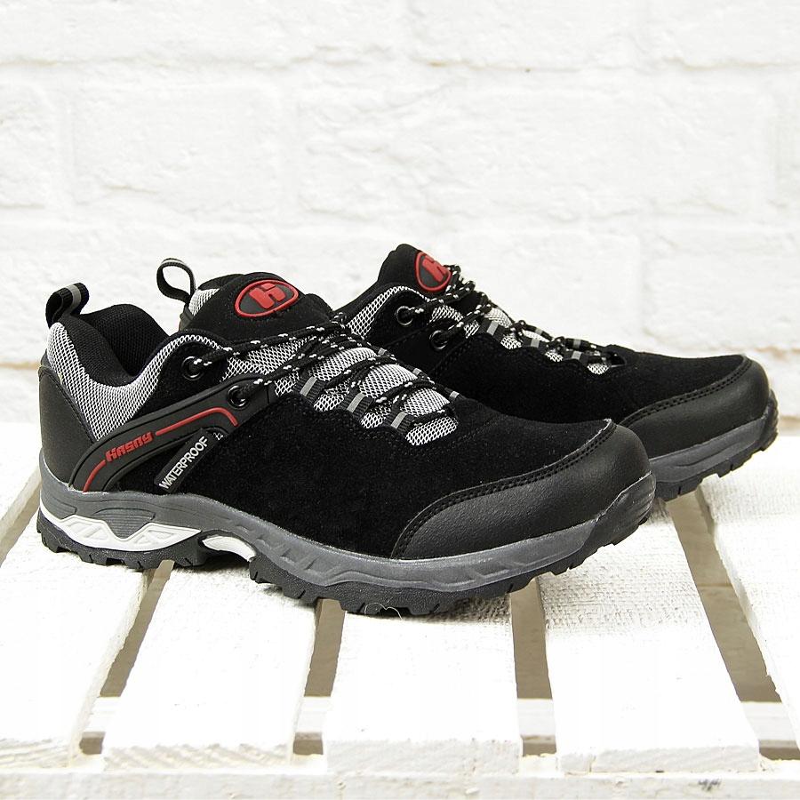 00f432b4 buty TREKKINGOWE męskie Z MEMBRANĄ czarne HASBY 41 - 6978031590 ...