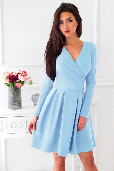 c7c663b18161 Vubu błękitna rozkloszowana sukienka - 7423424083 - oficjalne ...