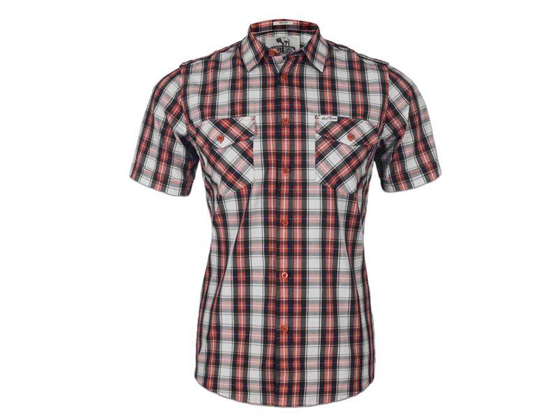 5f69e0a26f3b74 Koszula męska krótki rękaw krata WESTBISON r M - 6810247343 ...