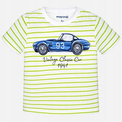 Bluzka koszulka t-shirt auto paski 1040 MAYORAL 86