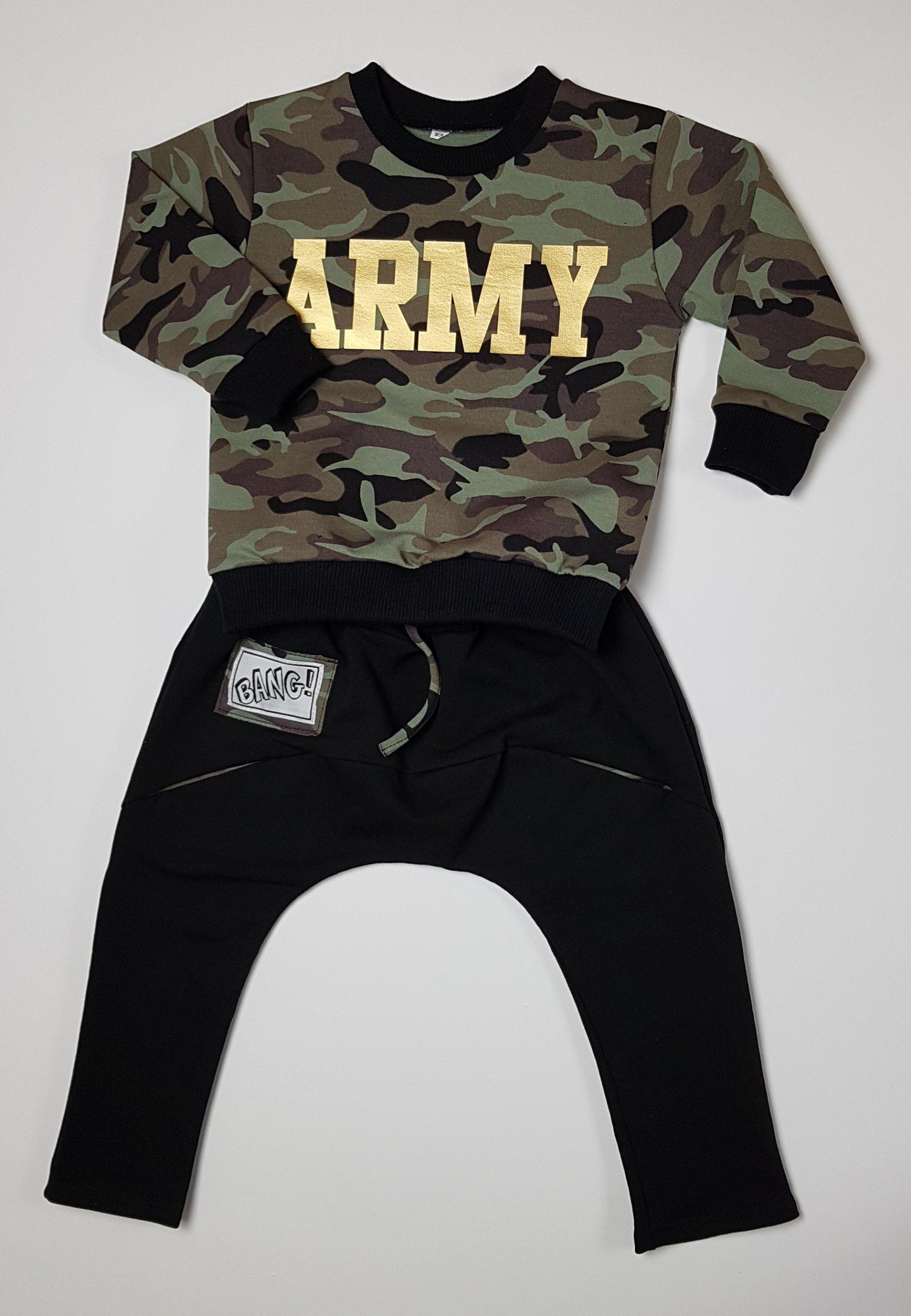 c880dd170 Komplet chłopięcy ARMY moro spodnie+bluza roz 92 - 7257208533 ...