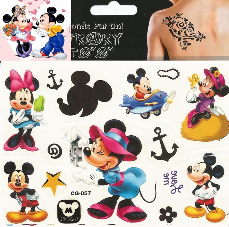 Myszka Minnie I Mickey Zmywalne Tatuaże Naklejki