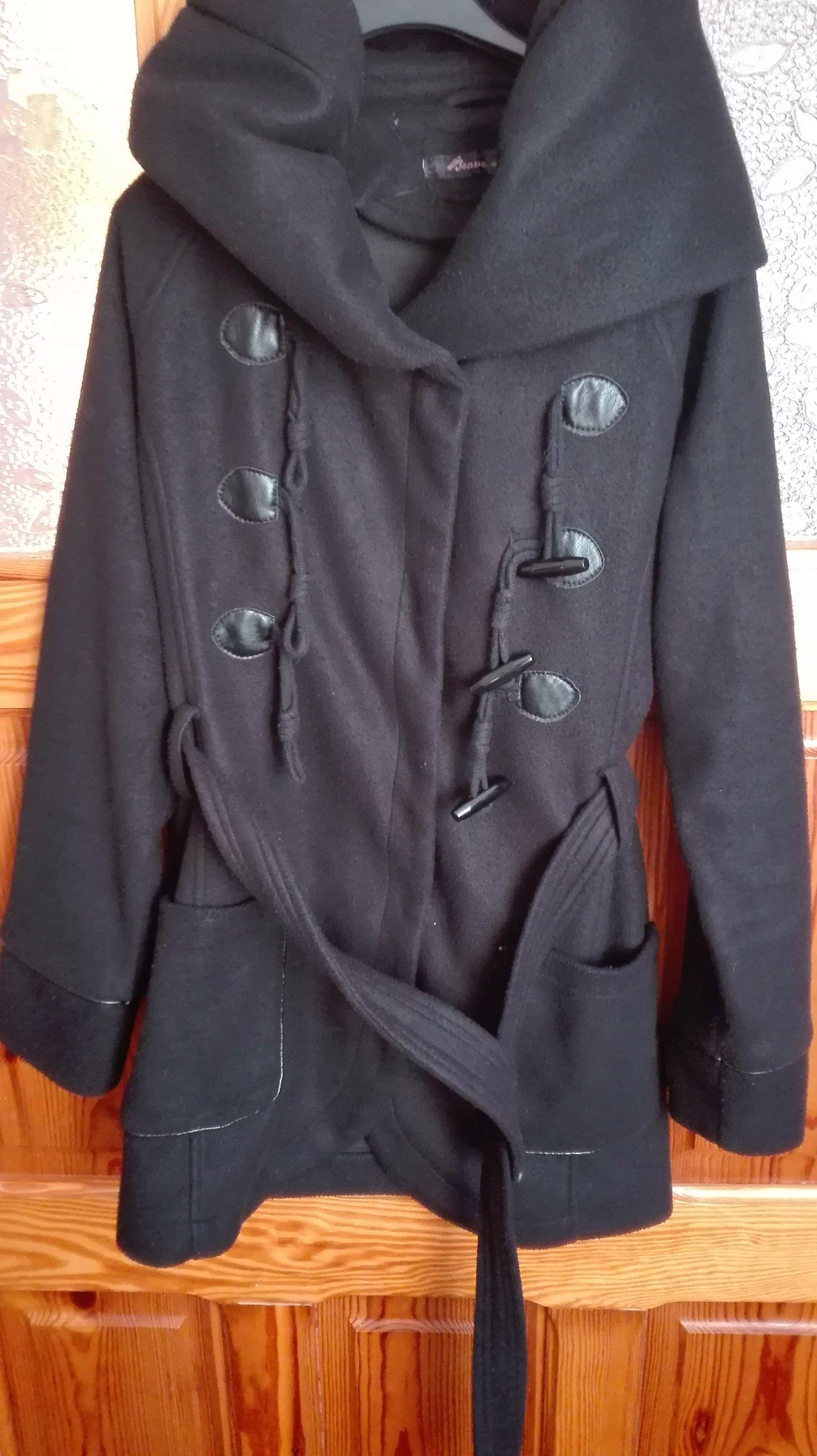 5741c883 Płaszczyk zimowy czarny damski roz M - 7303896293 - oficjalne ...