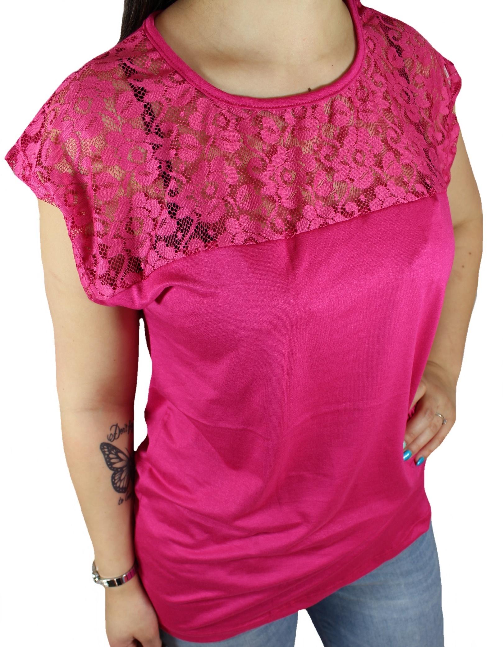 1ea0233af10ed NEW ! Duże BLUZKI t-shirty damskie z KORONKĄ 2XL - 7338794266 ...