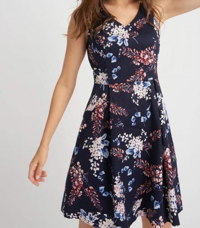 4605c2d3a9 sukienka Orsay granatowa kwiaty floral - 7374144701 - oficjalne ...
