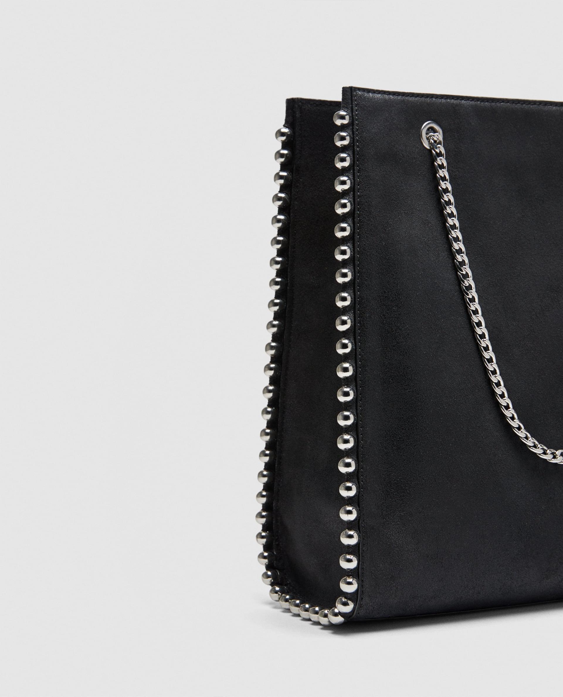 db1fcab0f0153 Zara mini torebka shopper z ćwiekami - 7612216402 - oficjalne ...