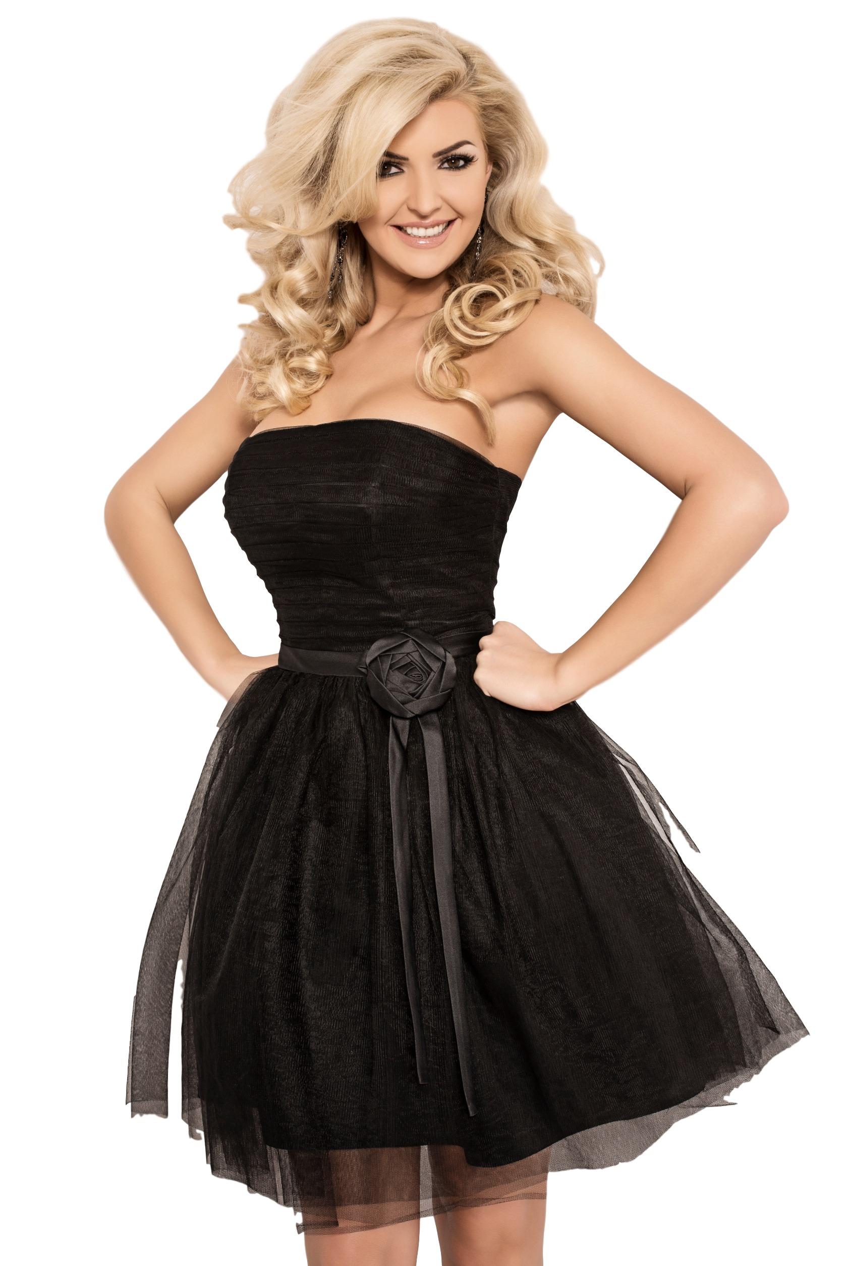 ddc6e69b6f AMAZINGGIRL Sukienka z różą WESELE druhna L - 6823535328 - oficjalne ...