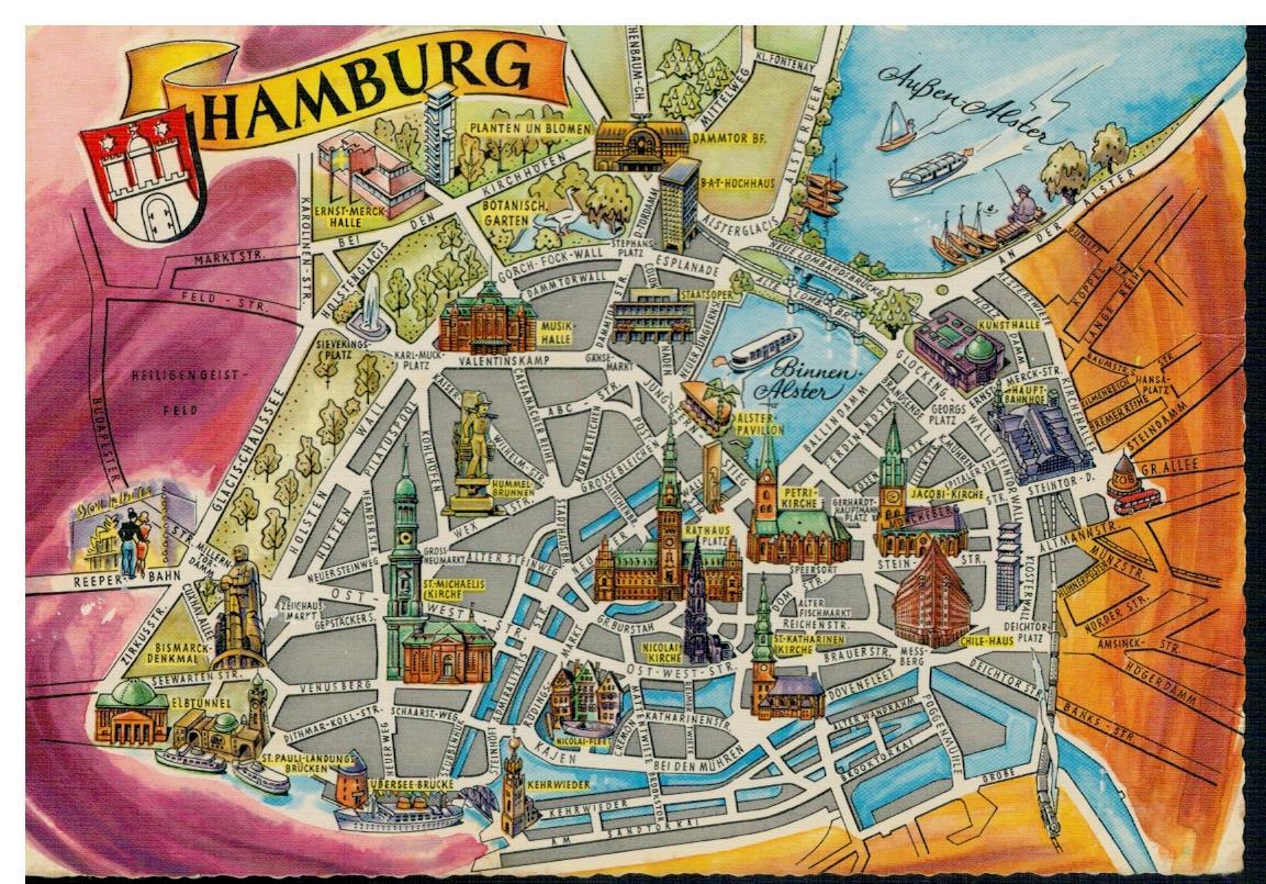 mapa hamburga niemcy