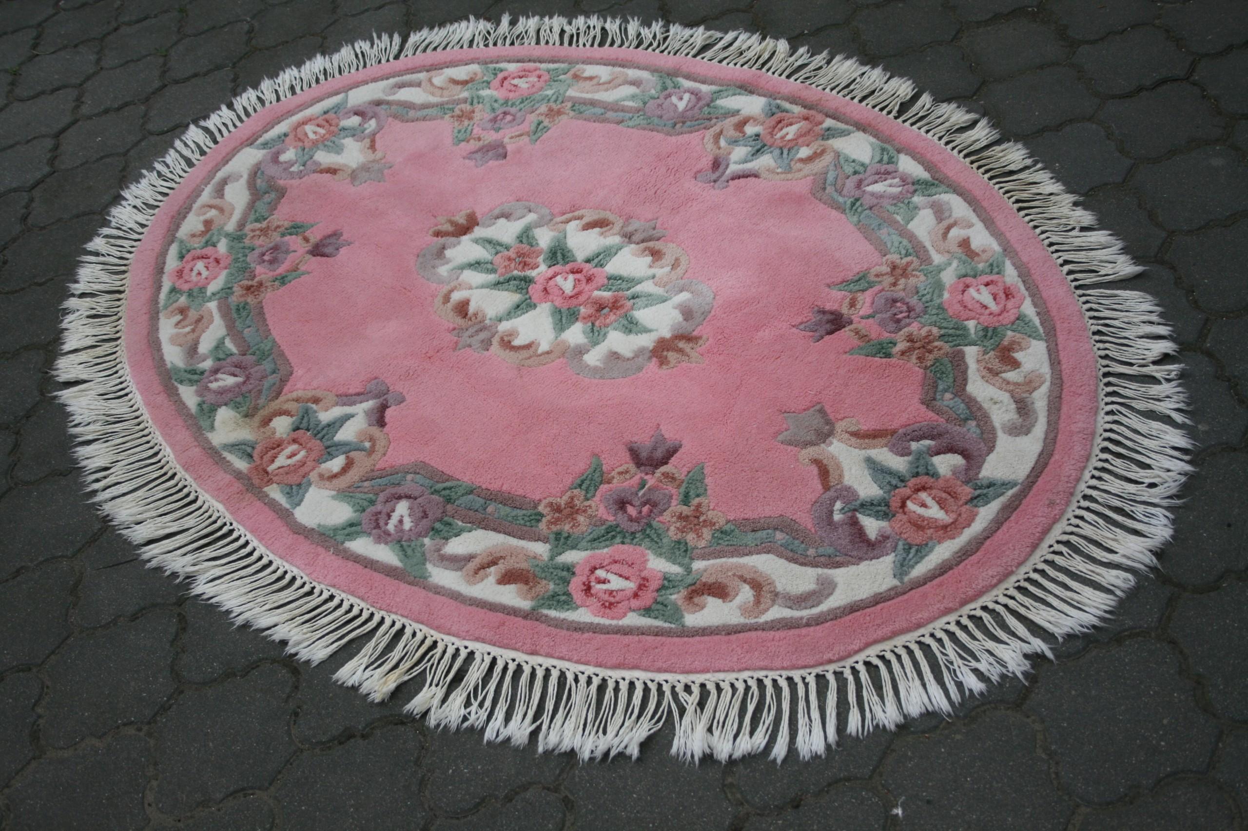 70 Piękny Owalny Rtkany Chiński Dywan 130180