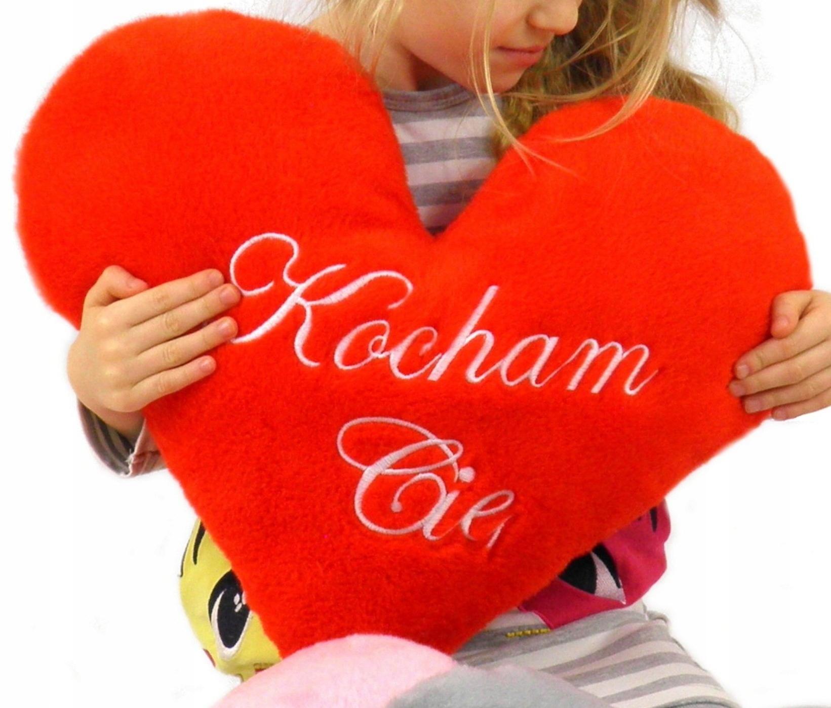 Poduszka Serce Prezent Walentynki Napis Kolory Xxl 7166245603