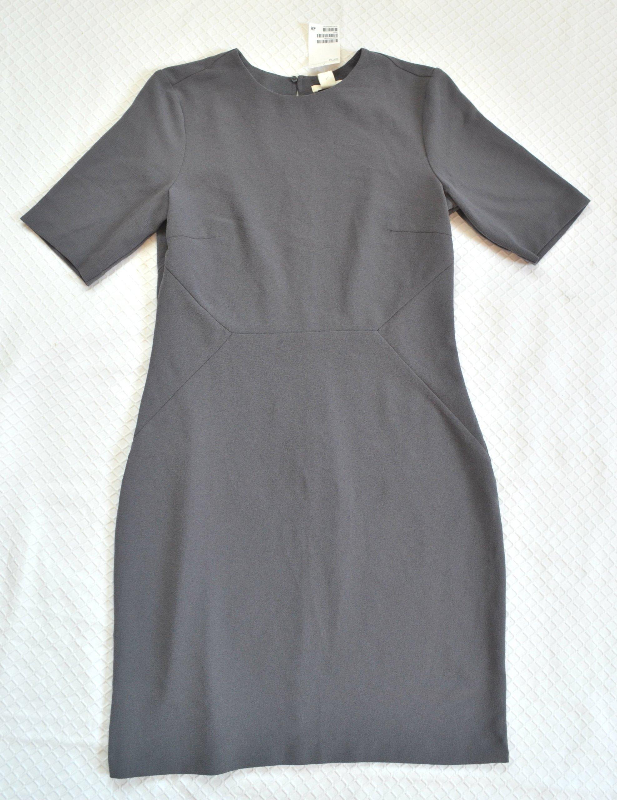 2224d258d1 H M sukienka damska 42 XL nowa z metką szara ! - 7338268086 ...
