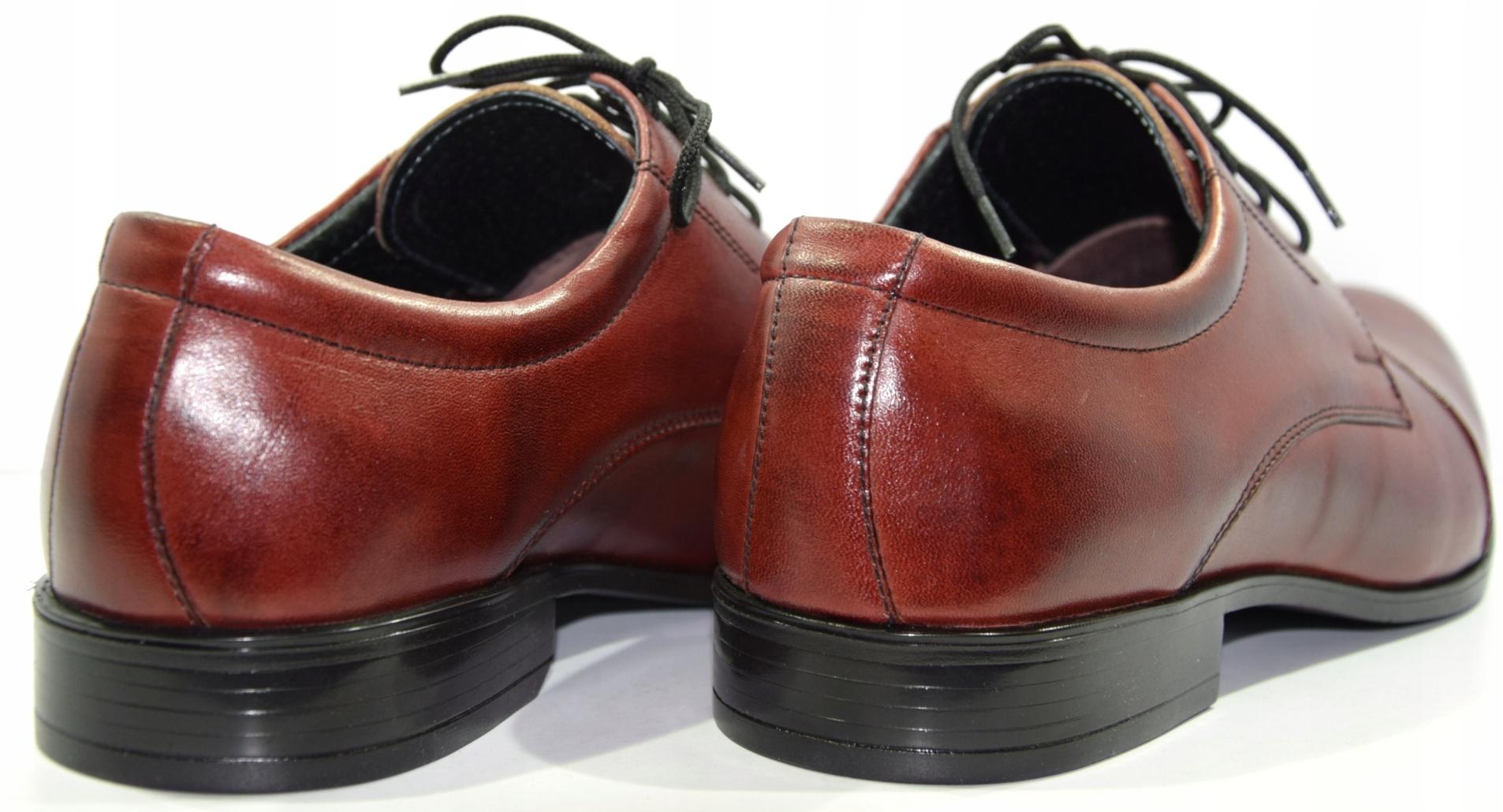 77536e87241f2 Obuwie męskie polskie buty Moskała bordo 632 R.43 - 7272102592 - oficjalne  archiwum allegro