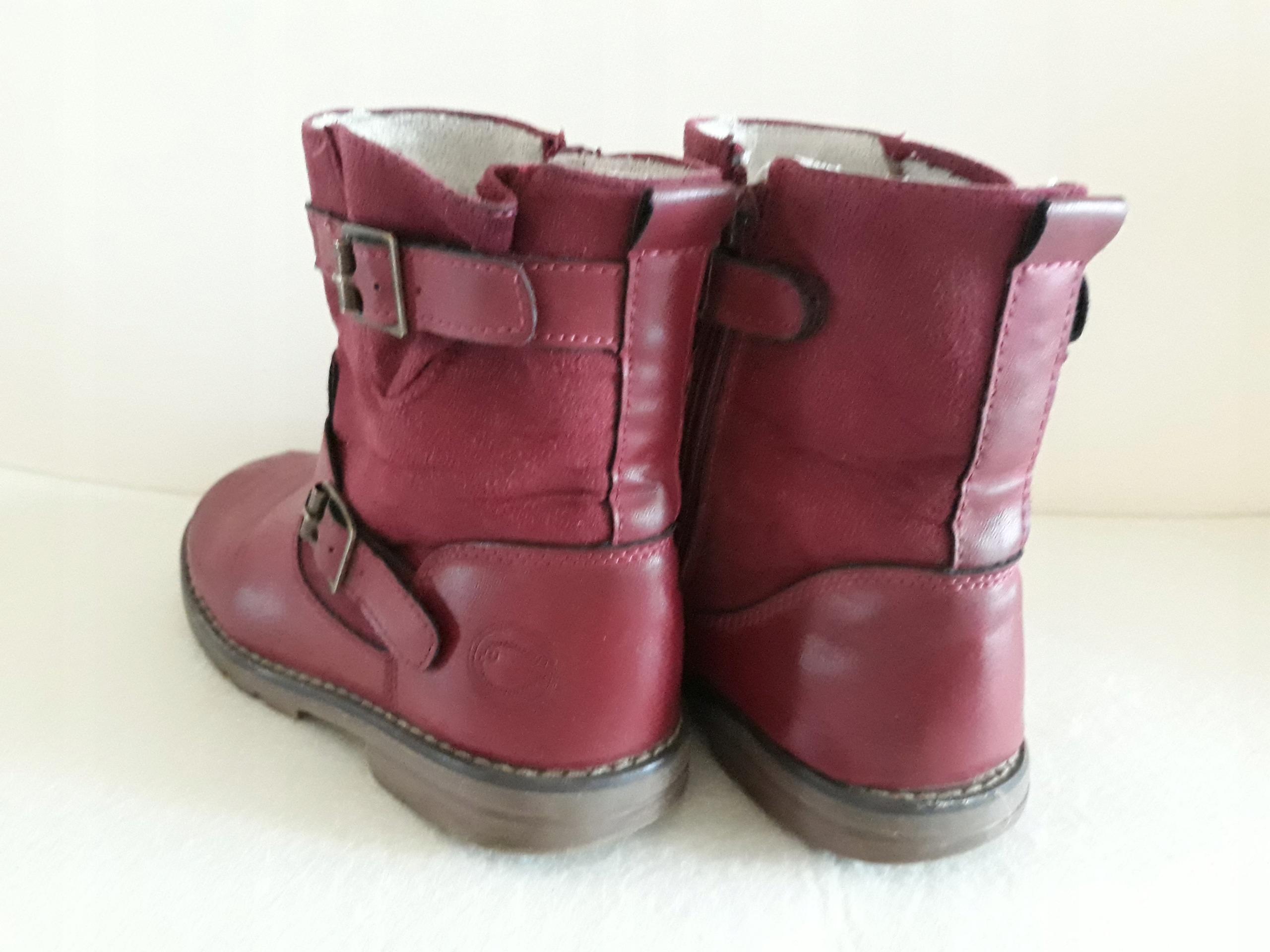57cd6cee Kozaczki buty zimowe kozaki botki dziewczęce r. 30 - 7621509337 - oficjalne  archiwum allegro
