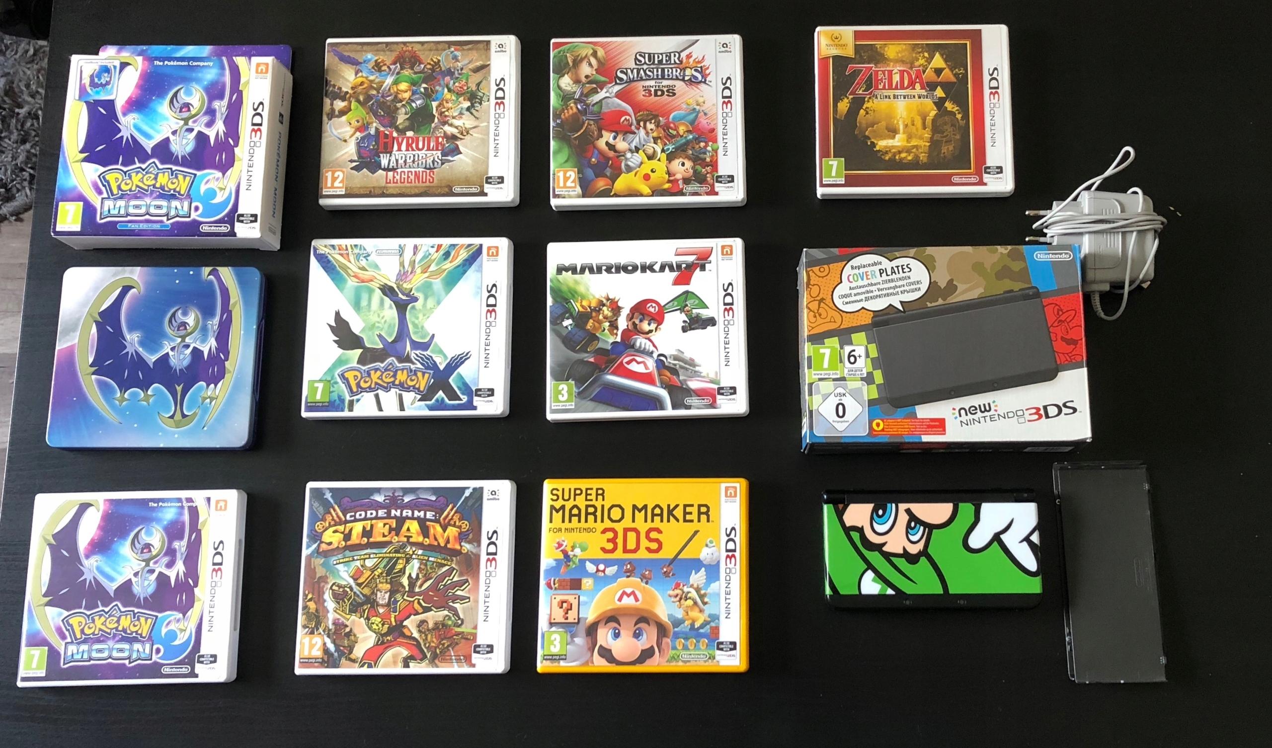 New Nintendo 3DS + 8 GIER