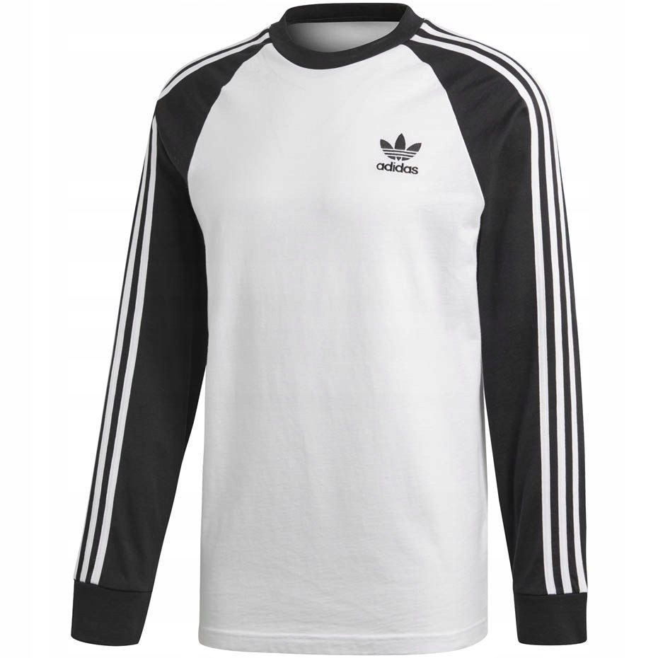 aea402db15e565 M1. Koszulka męska adidas 3 Stripes LS T biała DH5 - 7784058305 ...