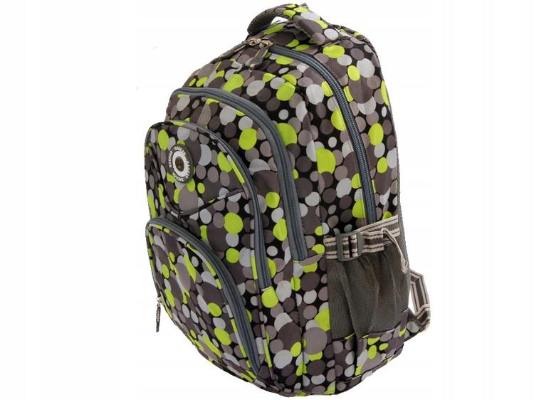 c468439e2f60c Plecak szkolny ładny dziewczęcy Kropki zielone - 7512942657 ...