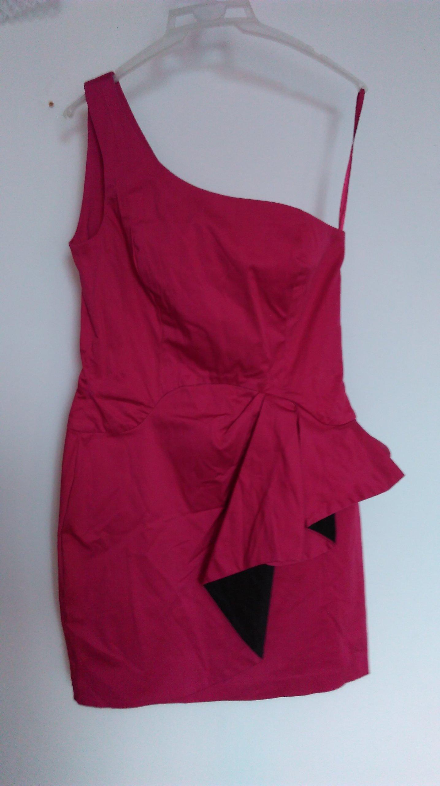 02de0a8b4c Malinowa sukienka asymetryczna Rozm 12 Eur 40 (L ) - 7093137145 ...