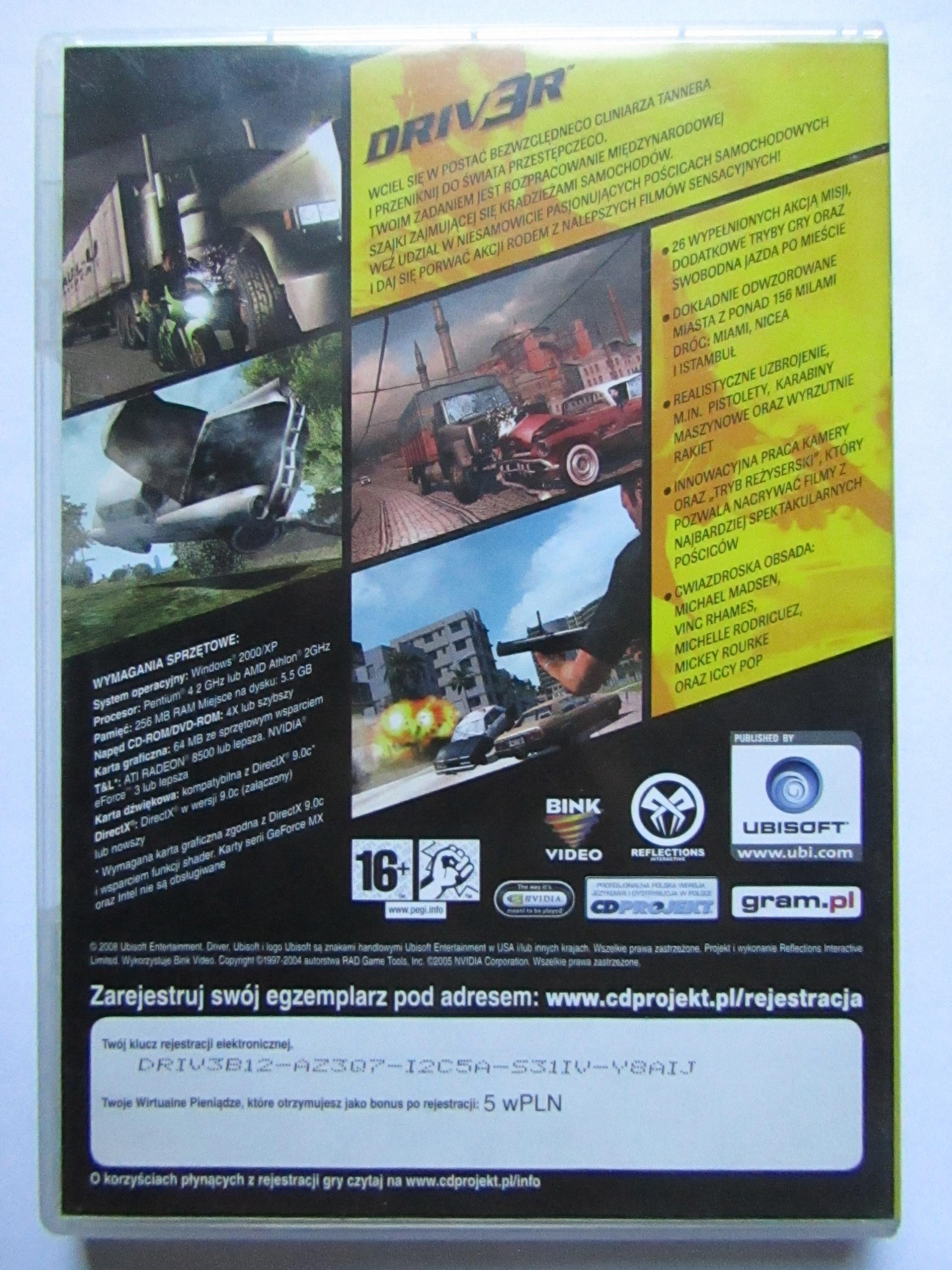 PC DVD DRIV3R - DRIVER 3 - 7700887996 - oficjalne archiwum allegro