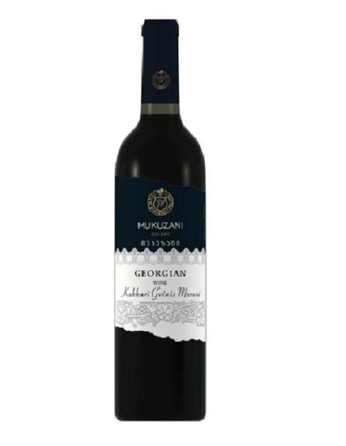 Wino GRUZIŃSKIE czerwone Wytrawne DO MIĘS Saperavi