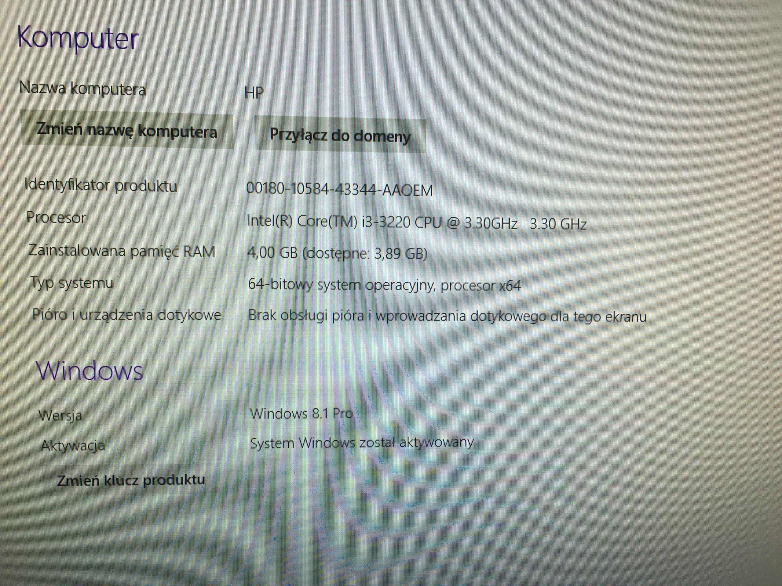 Hp Pro 3500 I3 3220