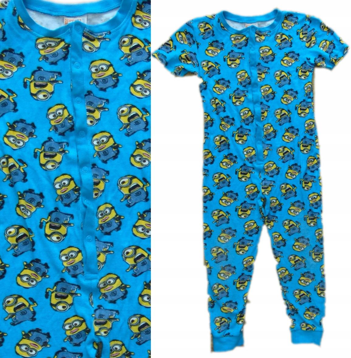 ad47c36cb2d331 MINIONKI onesie piżama kombinezon 122 128 T715 - 7473023292 ...