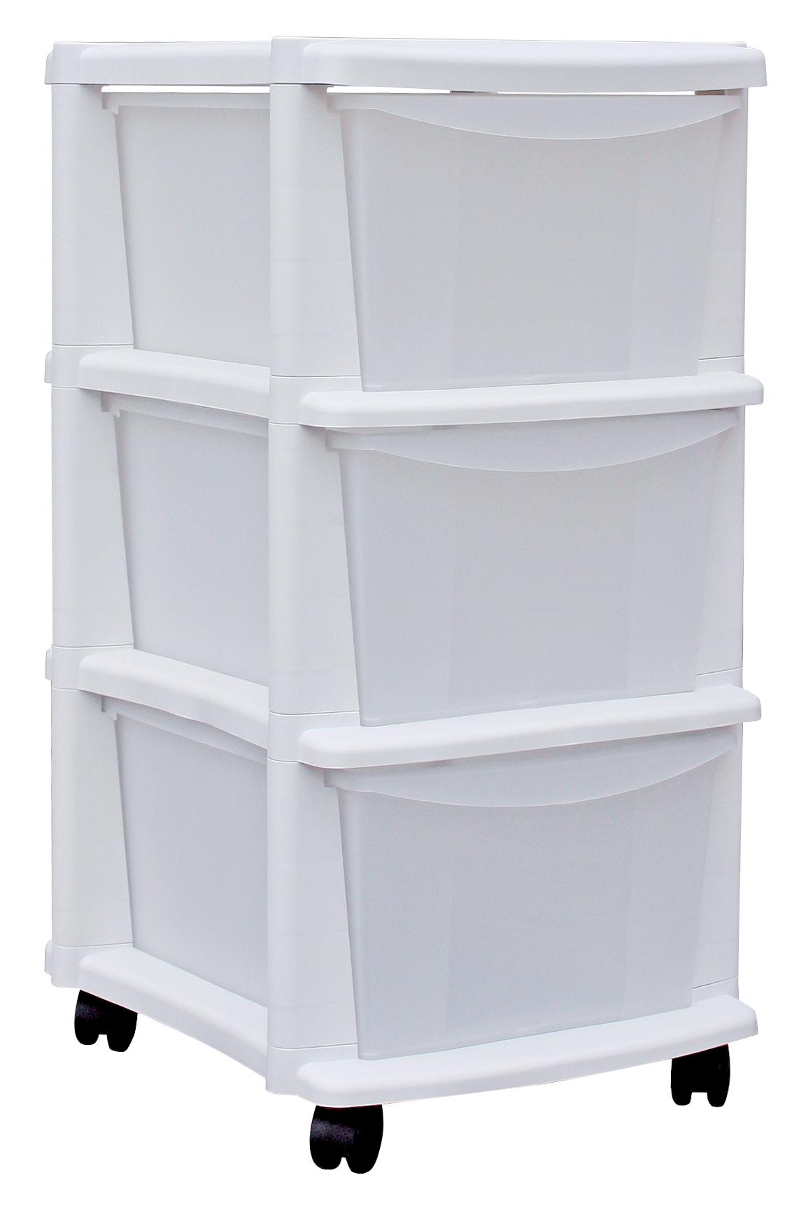 Półki Plastikowe Pojemniki łazienkowe Bathbox 3p