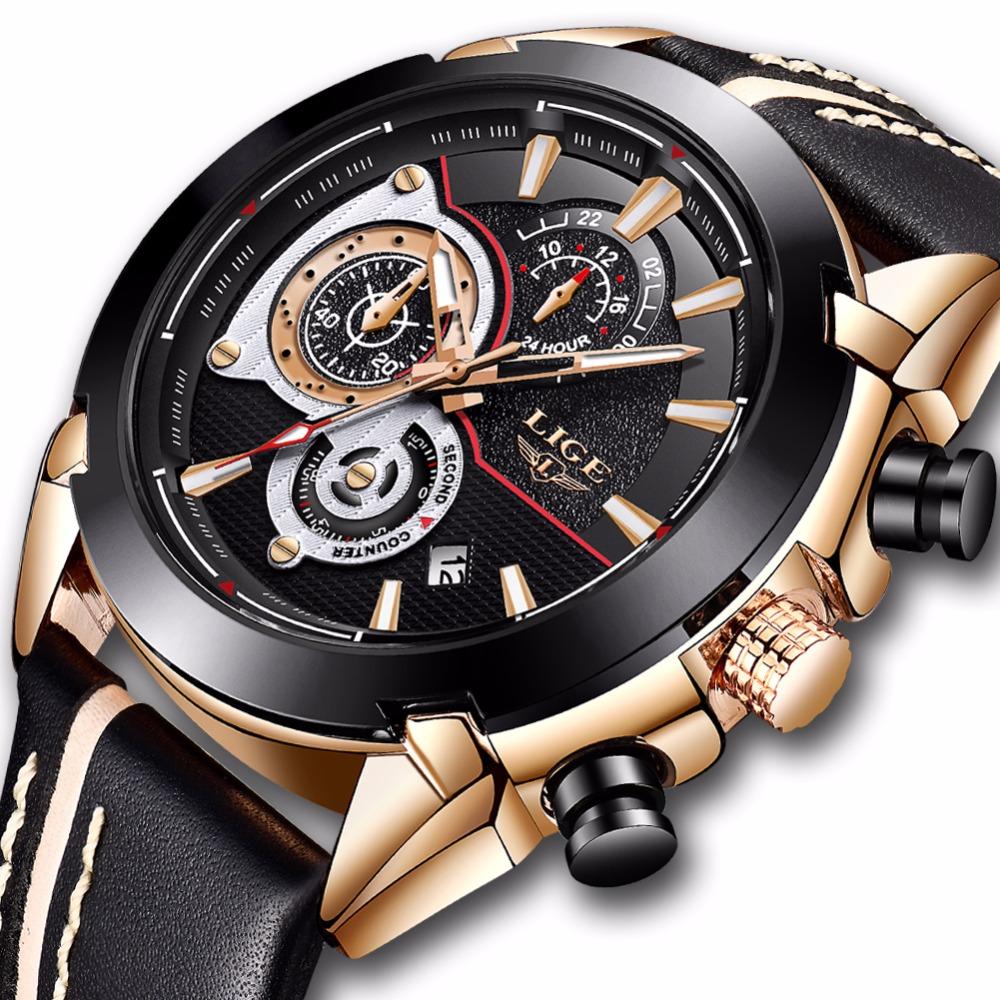 40f9fe186 Relojes Hombre LIGE Nowe Meskie S806 3 Kolor - 7325387509 ...