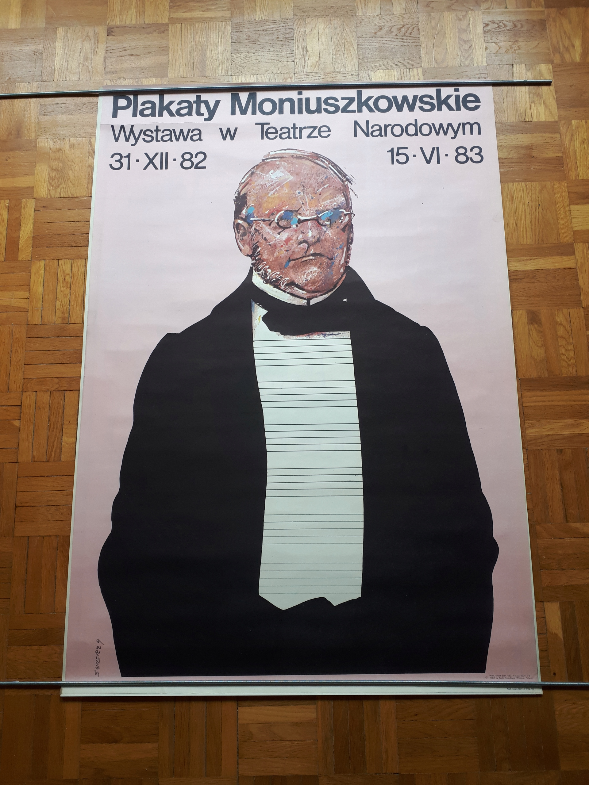 Plakat Wświerzy Plakaty Moniuszkowskie 1982 Rok