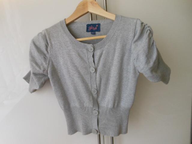 sweterek bolerko szaro-srebrne  10-11 lat  GLOOS