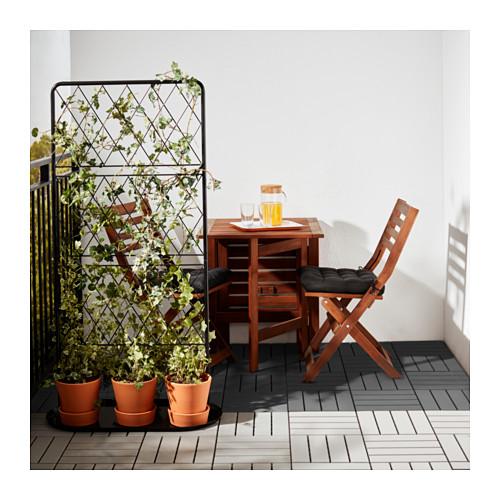 Ikea Runnen Szare Płytki Podłogowe Na Balkon Taras