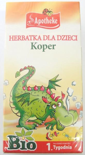 HERBATKA DLA DZIECI KOPER BIO 20 TOREBKI EKO