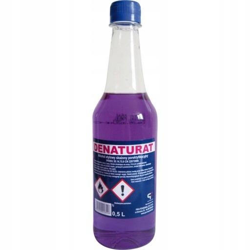 Denaturat fioletowy plastik. butelka 0,5L VOKE