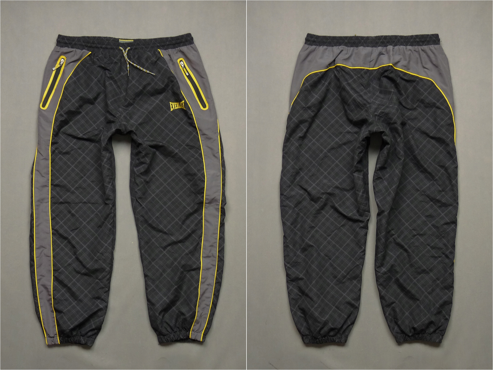 702d23ca98e90 Xxl 7631603123 Czarne Spodnie Dresowe Poliestrowe Everlast nUI87X8x
