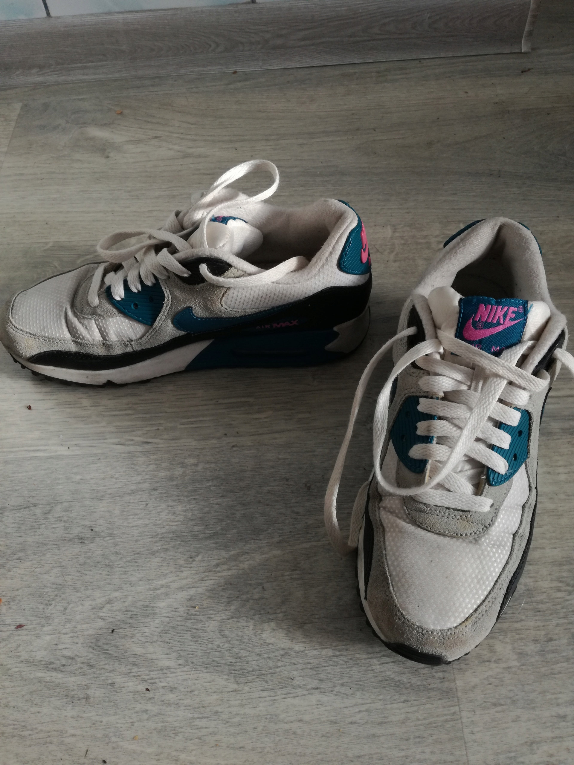 Damskie Nike Wmns Air Max 1 Essential Biały Granatowy Niebieski Szary