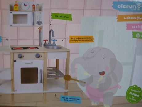 Kuchnia Drewniana Elefun Toys 7313110703 Oficjalne Archiwum Allegro