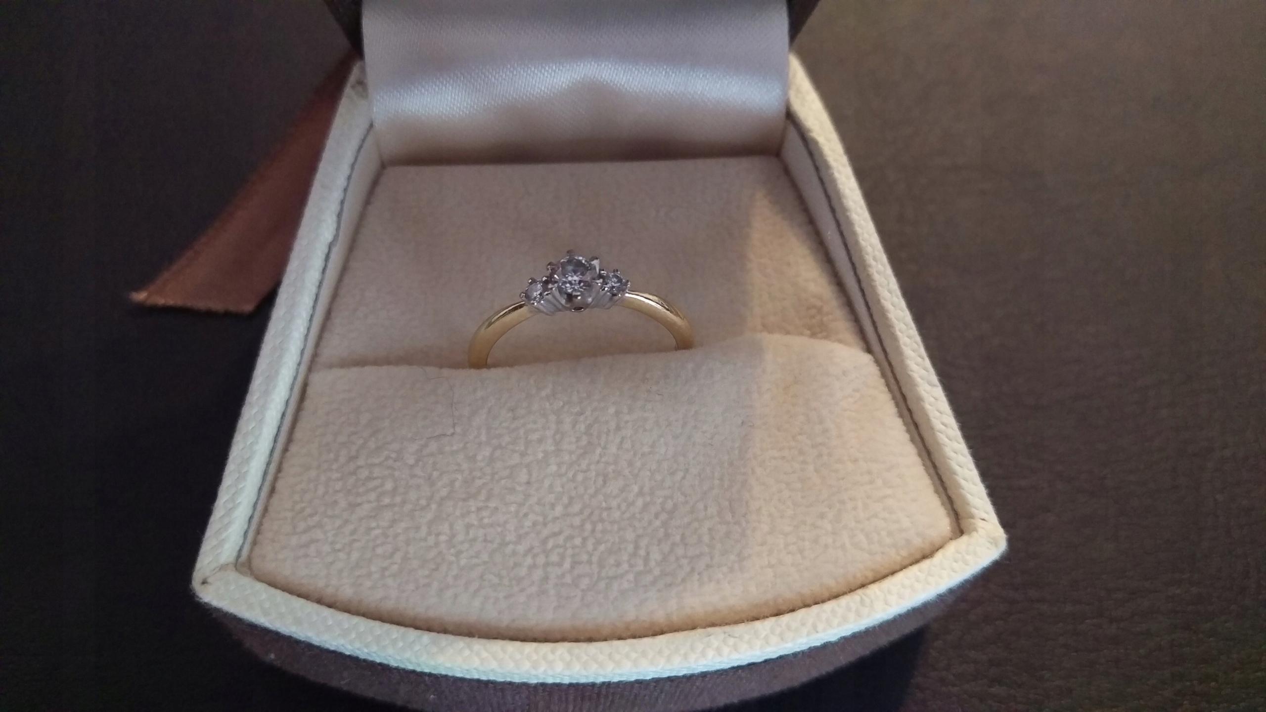 Wszystkie nowe Złoty pierścionek zaręczynowy apart diament r. 11 - 7518255733 II97