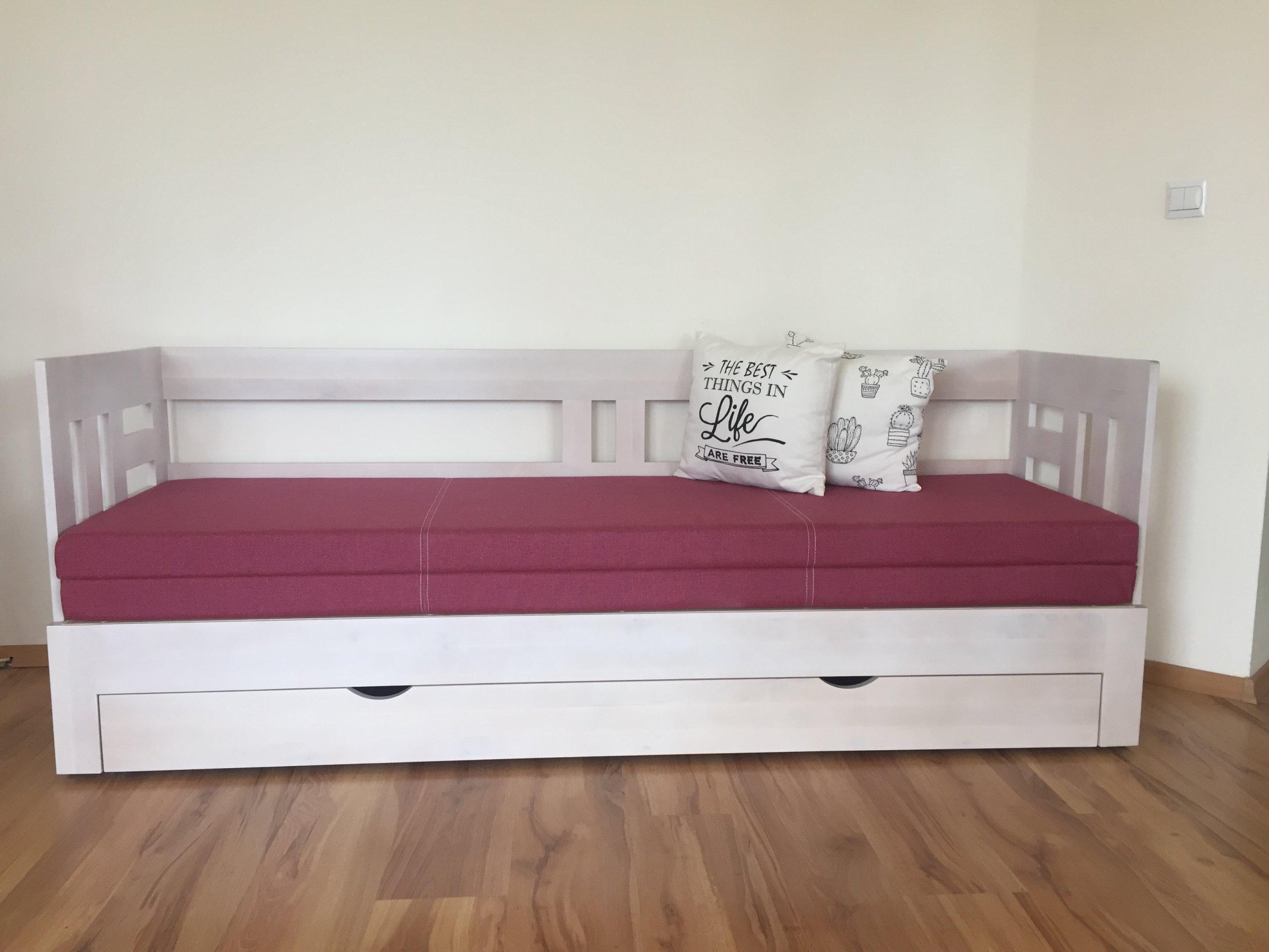 łóżko Brzozowe łóżko Rozkładane 70x200 140x200 7086953339
