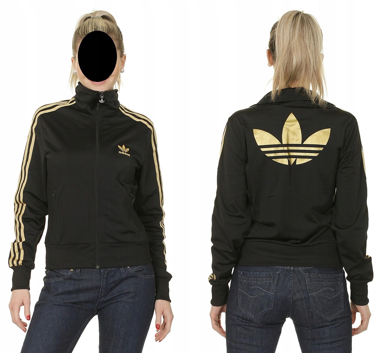 później dostępny tania wyprzedaż usa Bluza adidas Firebird S damska gold BIG logo - 7464146699 ...