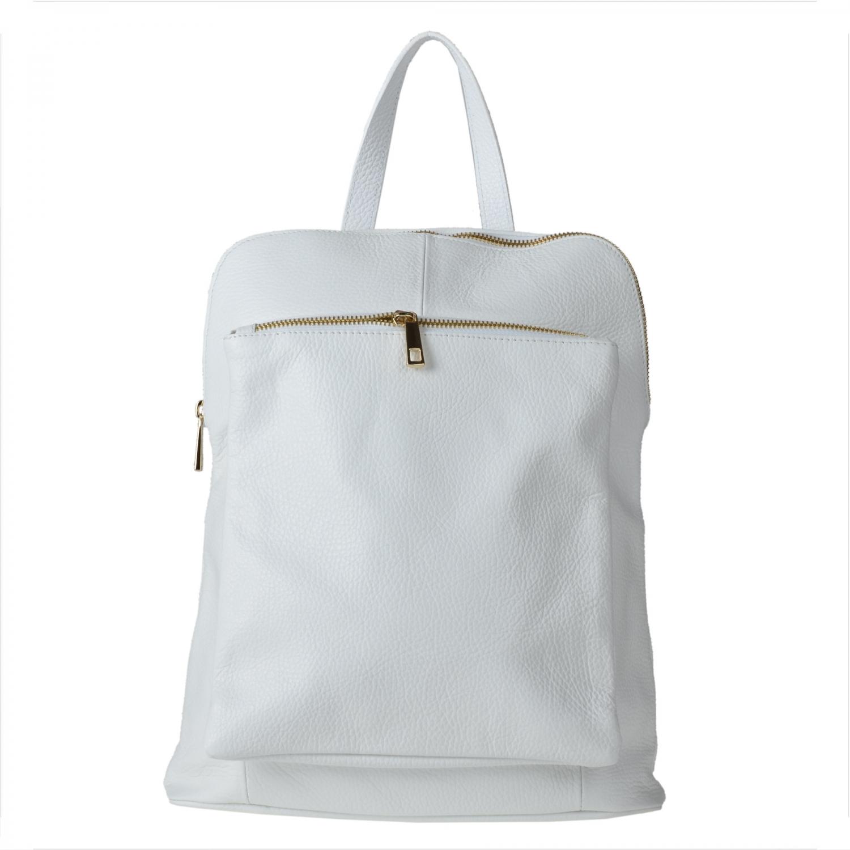 0d06cec9591f1 Włoski skórzany plecak torebka blały, lekki - 6959115932 - oficjalne ...