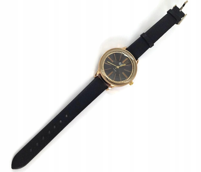 cd7d527e2a0a2b Piękny zegarek czarny pasek eko skóra - 7112448361 - oficjalne ...
