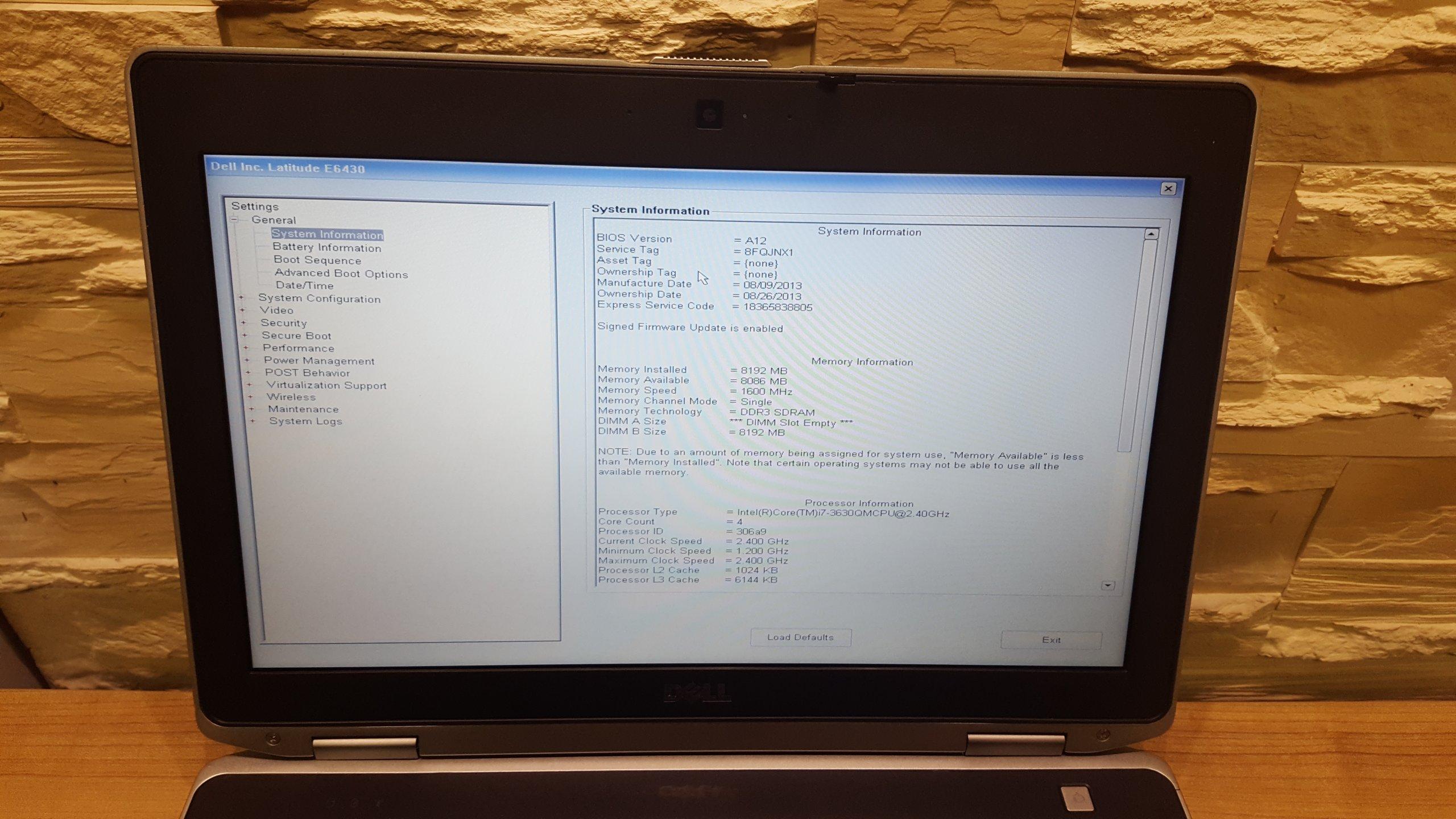 DELL E6430 i7-3630QM 8GB SSD 1600X900 NVIDIA 2H