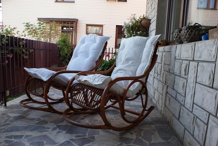 Piękny Fotel Bujany Rattanowyratan Na Prezent 7005334228