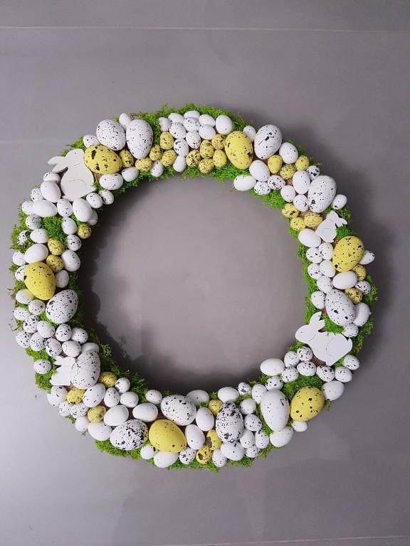 Wianek świąteczny Wielkanocny Stroik Na Drzwi Duży 7184934174