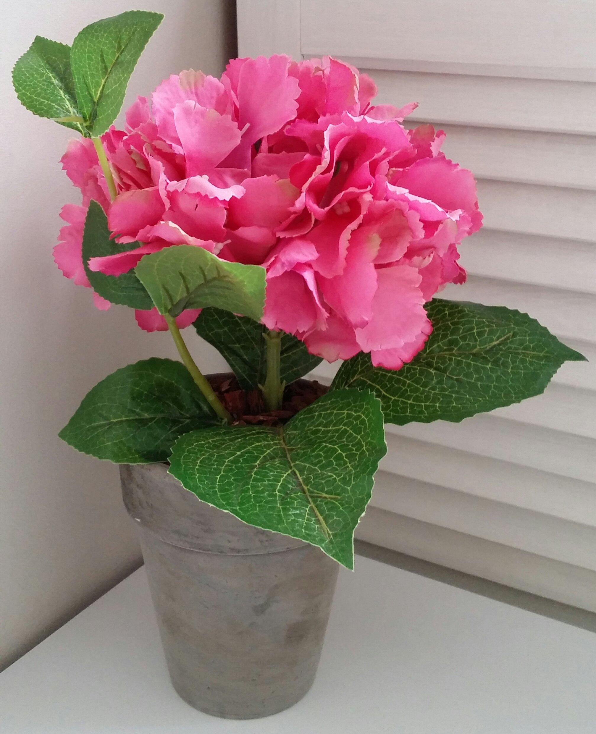 Hortensja Hortensje W Doniczce Sztuczne Kwiaty 7186786116