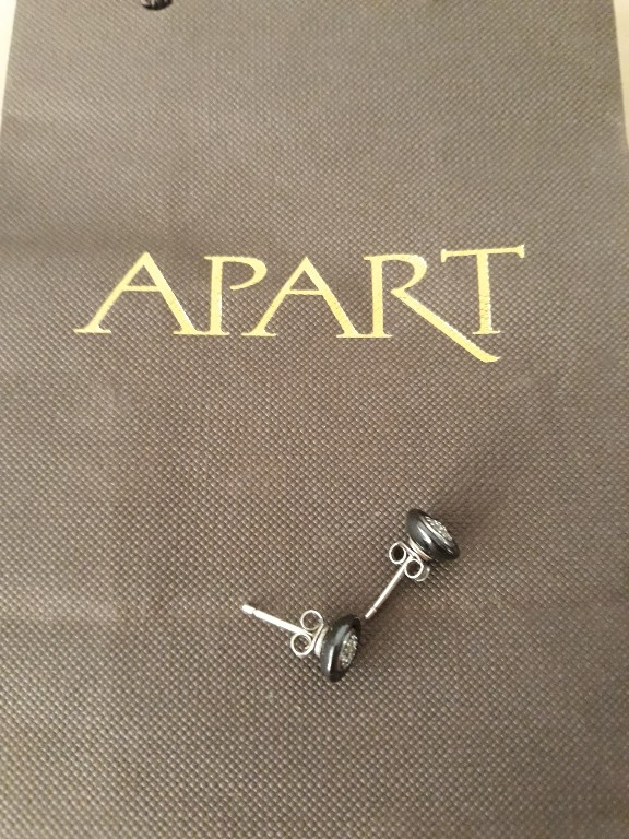 389c04ed73f4bd APART Kolczyki srebrne z ceramiką z cyrkoniami - 7354014226 ...