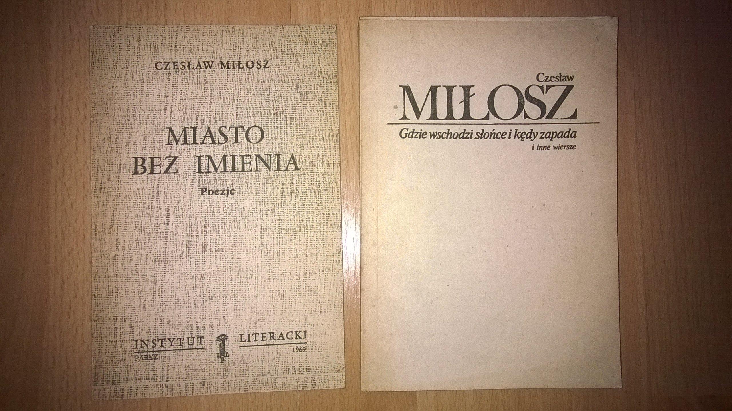 Czesław Miłosz Zestaw Książek Ii Obieg