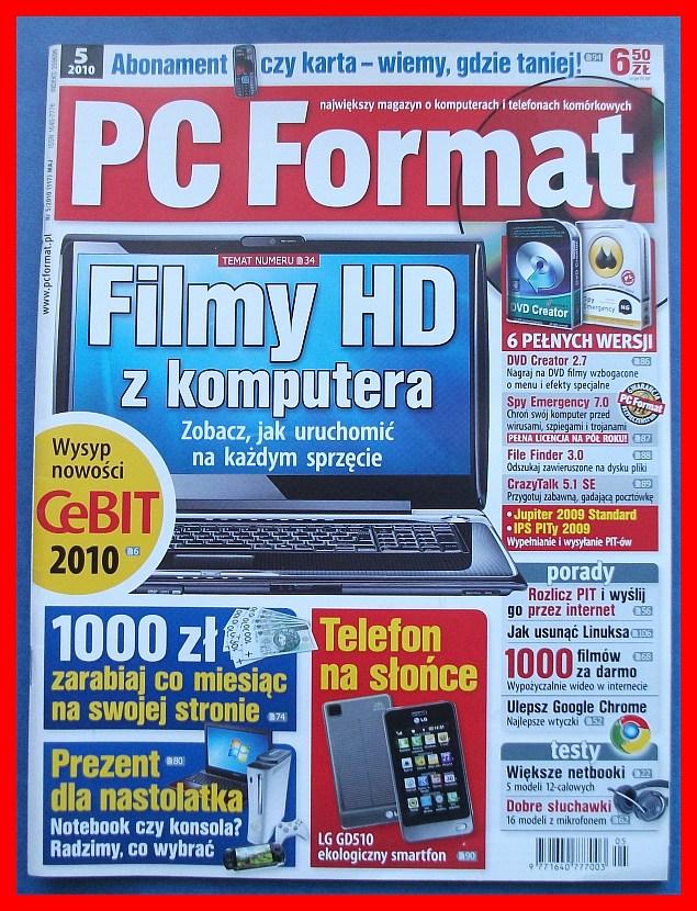 PC FORMAT - 5/2010 - FILMY HD Z KOMPUTERA - 7217411529