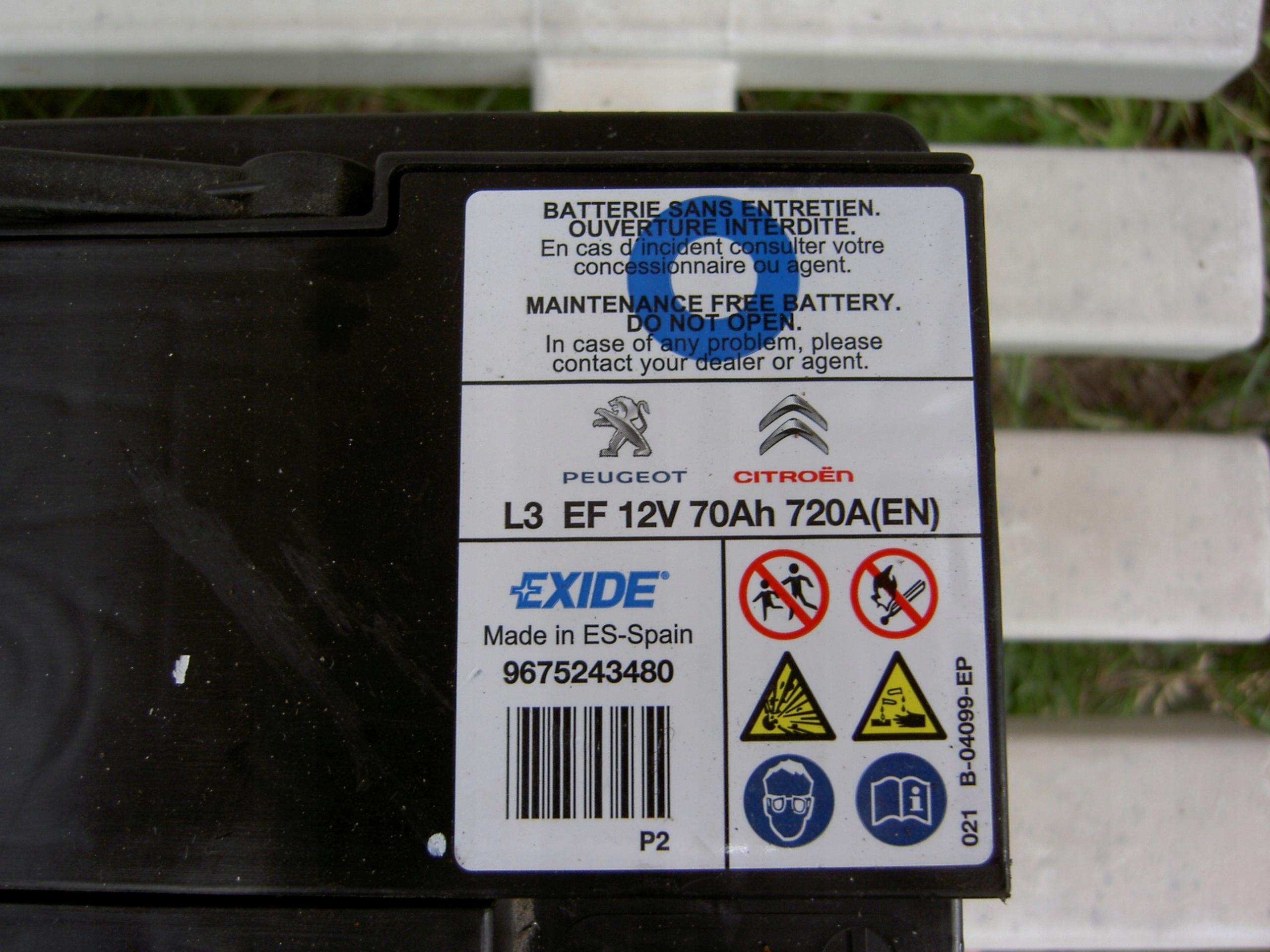 Exide 72Ah EN720A Akumulator EFB (start-stop)