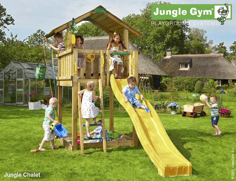 Plac Zabaw Chalet Jungle Gym Active Garden 5670355431